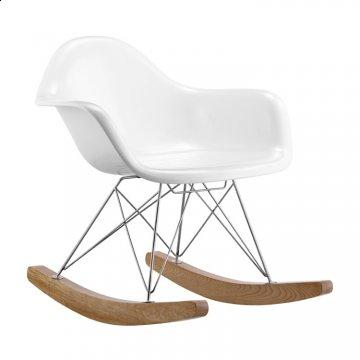 Rocket White Rocking Chair by Zuo Modern
