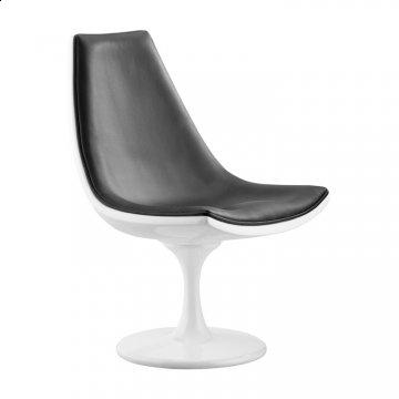 Slipstream Black Swivel Accent Chair by Zuo Modern