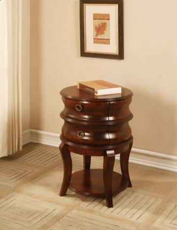 Antique Mahogany Round Accent Table