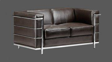 Fortress Espresso Leather Loveseat