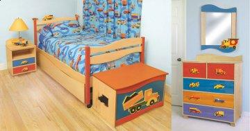 Boys Like Trucks Twin Bedroom Set
