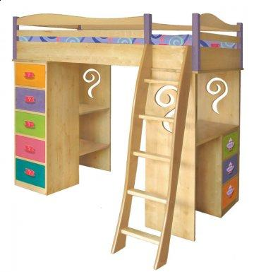 Girl Teaset Loft Bed