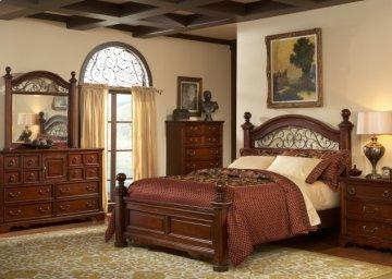 Castile Low Poster Bedroom Set