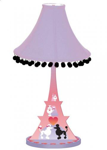 Poodles in Paris Eiffel Table Lamp
