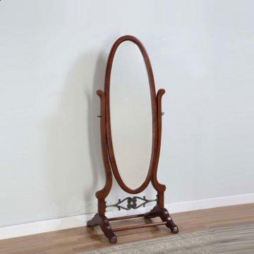 Heirloom Cherry Oval Cheval Mirror