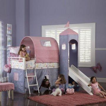 Princess Castle Twin Tent Bunk Bed with Slide