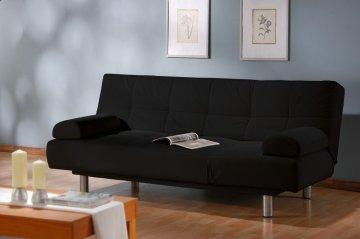 Aruba Black Convertible Sofa