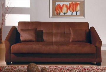 Hamptons Dark Chocolate Convertible Sofa
