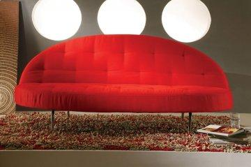 La Jolla Red Convertible Sofa