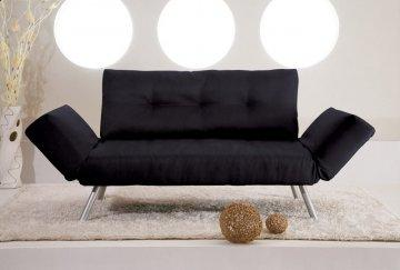 Phoenix Black Convertible Sofa