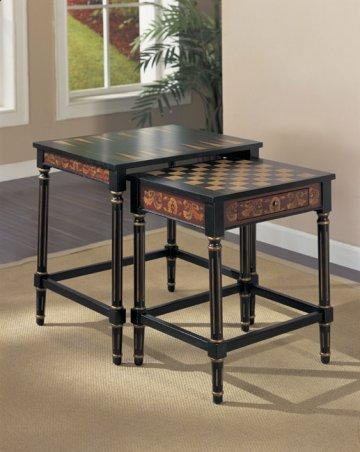 2 PC Masterpiece Nesting Game Table Set